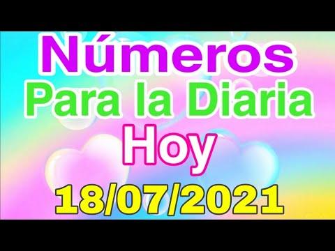 NÚMEROS PARA LA DIARIA HOY 18 DE JULIO DEL 2021