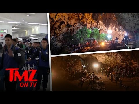 Rescued Thai Soccer Team Hits Hollywood! | TMZ TV