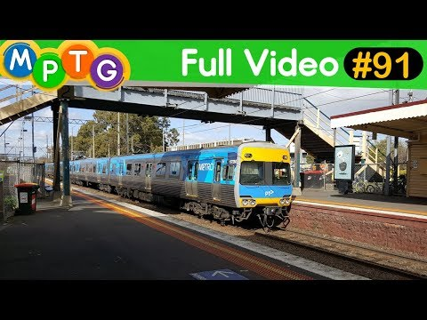 Melbourne's Metro & V/Line Trains at Murrumbeena Station (Full Video #91)