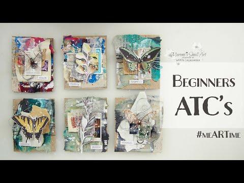 Recycled Beginners ATC's Tutorial ♡ Maremi's Small Art ♡