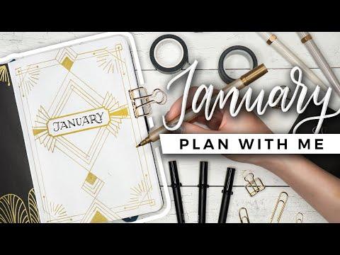 PLAN WITH ME | January 2020 Bullet Journal Setup