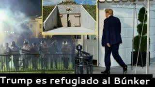 Donald Trump es trasladado a un Búnker para proteger su vida, noticia de Estados Unidos 1 de Junio