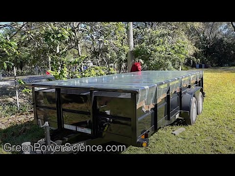 Lawn Trailer to Solar Heater 130 CFM 5000 watts