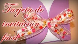 Tarjeta De Invitación Fácil Comunión Bodas Bautizo Diy Easy Invitation Card