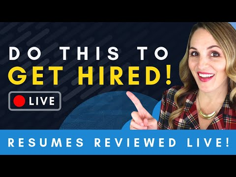 Resume Tips That Will Get You Hired + LIVE Resume Reviews photo