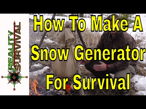 Arctic Survival Tip: How To Make A Snow Generator