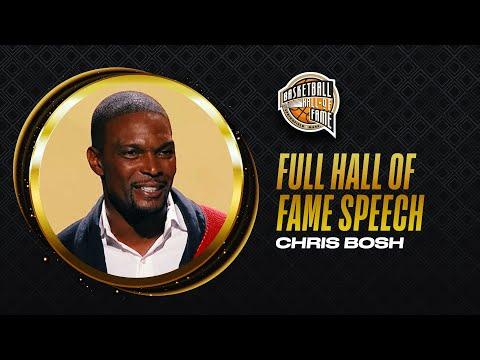 Chris Bosh   Hall of Fame Enshrinement Speech