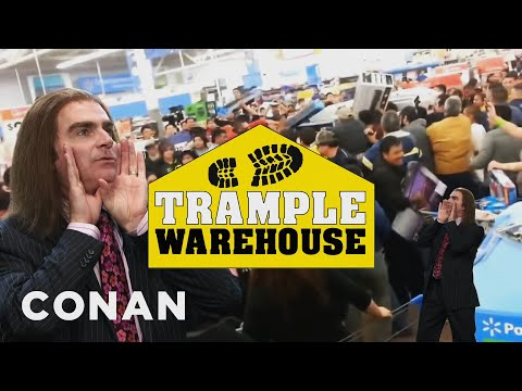 Get Into The Black Friday Spirit At Trample Warehouse - CONAN on TBS