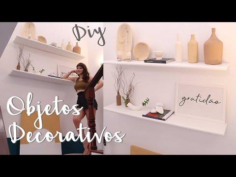 DIY Objetos Decorativos p/ Prateleiras & Estantes – do Lixo ao Luxo