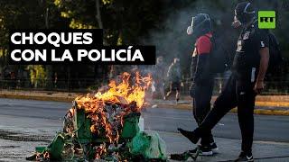 15 detenidos durante las protestas en Chile para exigir la liberación de presos