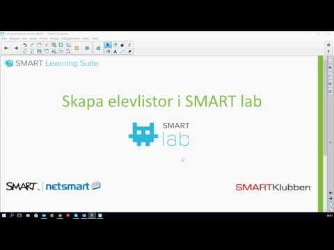 Skapa elevlistor i SMART lab