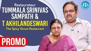Restaurateur T Srinivas Sampath backslashu0026 Akhilandesawari Exclusive Interview Promo | Dil Se With Anjali - IDREAMMOVIES