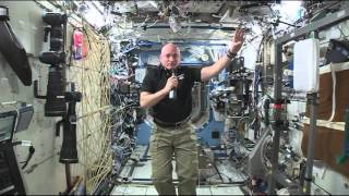 Space Station Commander Discusses His One-Year Mission with News Media