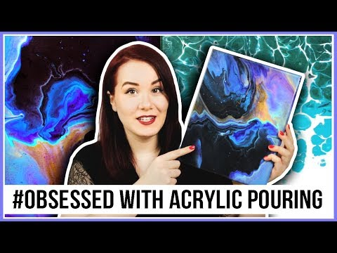 Mastering Acrylic Pouring Part 2! With One Happy Little Accident....