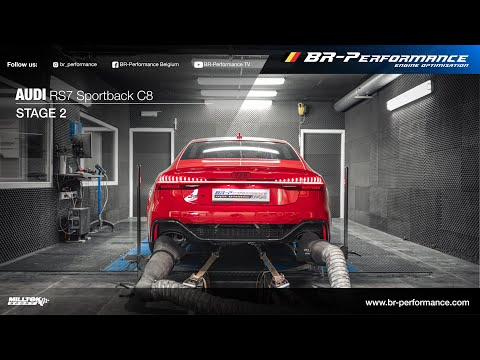 2020 Audi RS7 Sportback C8 / Stage 2 By BR-Performance / MILLTEK exhaust