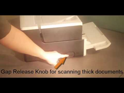 Kodak i2900-i3000 Scanner - Rear Exit & Gap release Options Preview