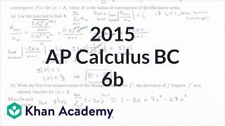 2015 AP Calculus BC 6b