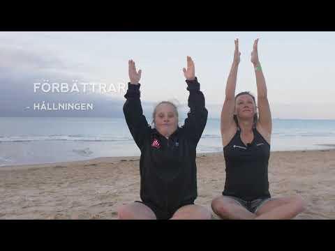 """Idas träningsskola, Yoga, övning """"solhälsningen"""""""