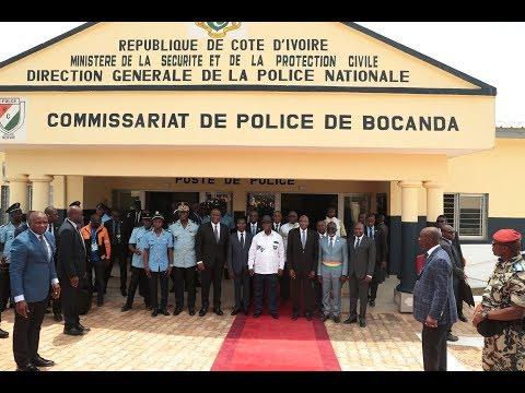 Mise sous tension du quartier Blaidy Extension et inauguration du Commissariat de Police de Bocanda