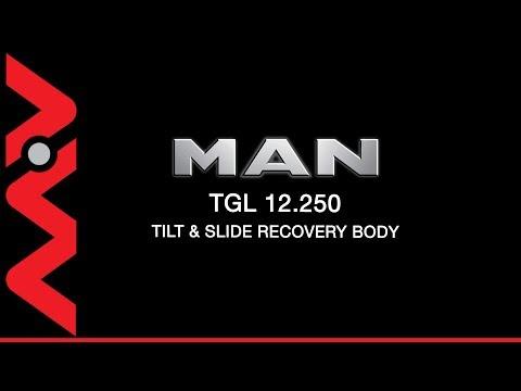 YJ66YFP   MAN TGL 12 250 Steel tilt and slide recovery body