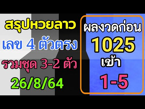 สรุปวิเคราะห์เลขหวยลาว-26/8/25