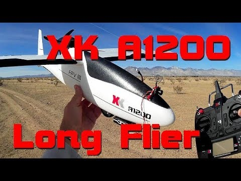 XK A1200 Large Stabilized FPV Glider Flight Test Review