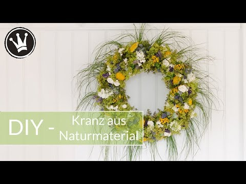 DIY - KRANZ selber machen | aus Naturmaterial | Schritt für Schritt Anleitung | DekoideenReich