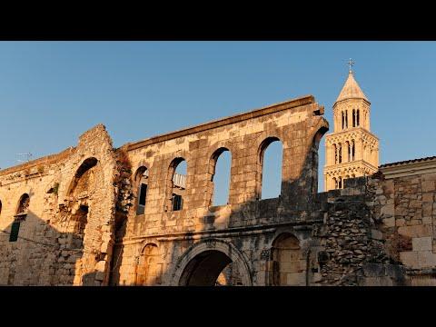 Diocletian Palace, Split, Croatia in 4K
