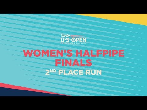 2019 Burton U·S·Open Women?s Halfpipe Finals ? 2nd Place Run