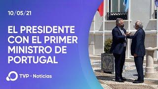 Alberto Fernández, reunido con el primer ministro de Portugal en Lisboa