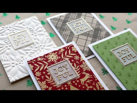 Holiday Card Series 2019 – Day 1 – Four Easy & Simple Cards!