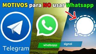 NO uses WhatsApp TE DIREMOS POR QUE y cuales APLICACIONES USAR...