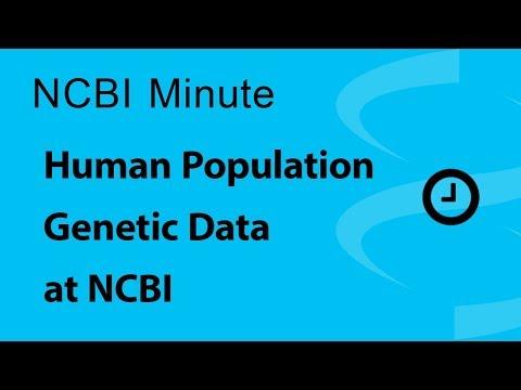 VIDEO: NCBI Minute: Human Population Genetic Data at NCBI