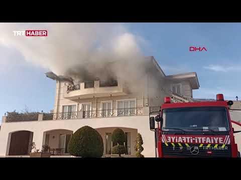 Büyükçekmece'de yangın: Alevlerden kaçmak için balkondan atladılar