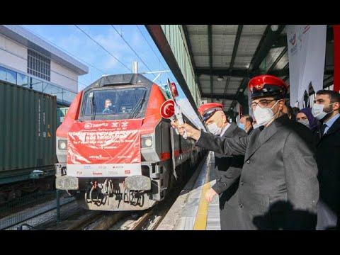 Rusya ve Çin'e gidecek ihracat trenleri Ankara'dan törenle uğurlandı