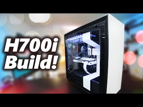 CRAZY Black & White PC Build in the NZXT H700i Case!