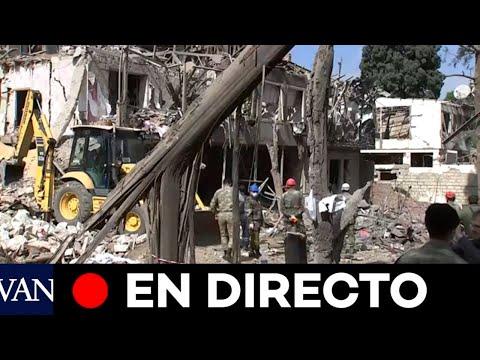 DIRECTO: Buscan civiles tras un ataque con cohetes en Ganja