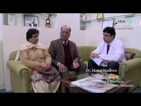 Amrit Dhingra walks pain free.