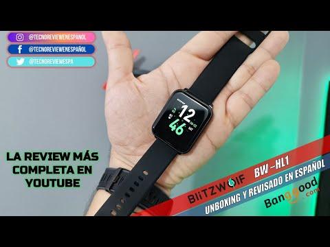 ☑️BLITZWOLF BW HL1 El SMARTWATCH MAS BARATO DEL MERCADO. unboxing y revisado completo.
