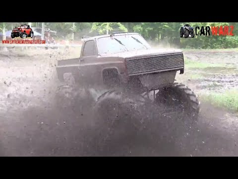 Big Red Chevy Mega Truck Runs Deep At Bentley Lake Road Mud Bog Fall 2018