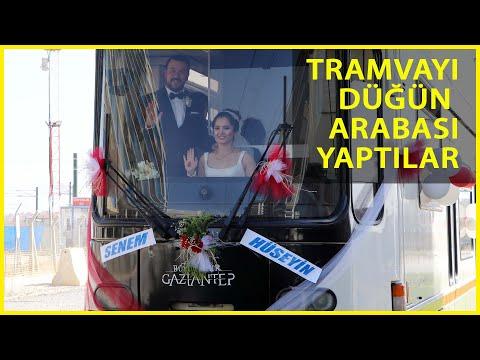 Vatman Çift, Düğün Öncesi Süsledikleri Tramvayla Şehir Turu Attı