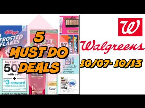 5 MUST DO WALGREENS DEALS 10/7 - 10/13 | FREE CANDY & MORE!