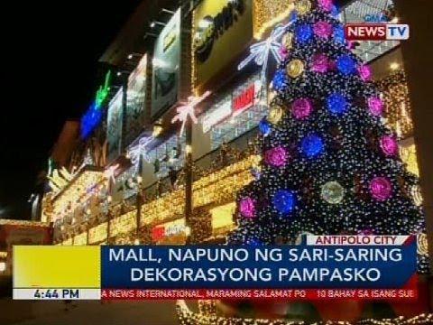 Mall, napuno ng sari-saring dekorasyon Pampasko