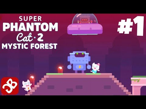 Super Phantom Cat 2 (iOS, Android) Mystic Forest - Gameplay Walkthrough Part 1
