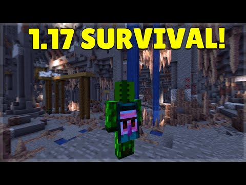 🔴Minecraft 1.17 SURVIVAL   NEW Caves & Height Limit!🔴