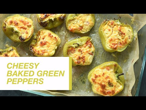 Cheesy Baked Green Peppers | Food Channel L Recipes