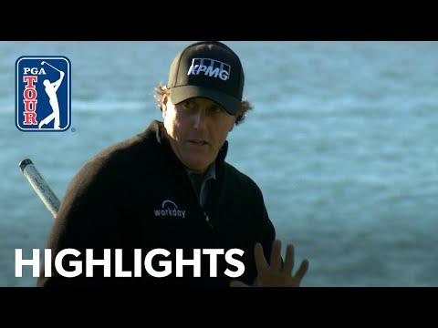 Phil Mickelson?s Round 4 highlights from AT&T Pebble Beach 2019