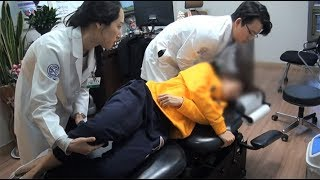 청주자생한방병원 갑자기 허리가 아파 내원한 젊은 여성 환자 자생 비수술치료