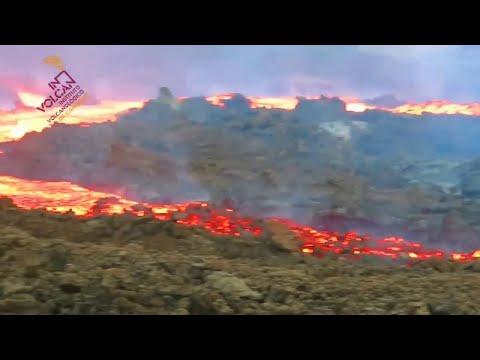 """Így folyt a """"lávaáradat"""" a vulkánból La Palma szigetén"""
