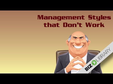 Management Styles That Don't Work